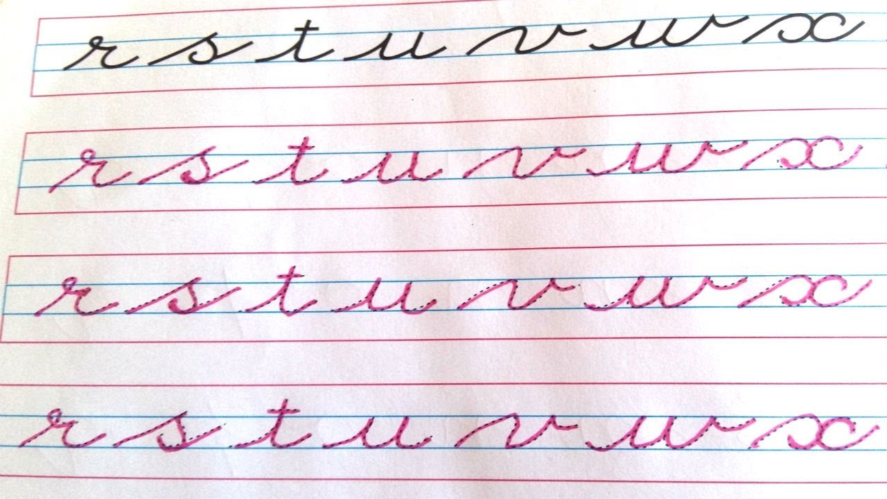 Cursive Writing   Small Cursive Letters   Cursive ...