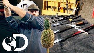 La espada perfecta para una decapitación | Mythbusters: Los cazadores de mitos