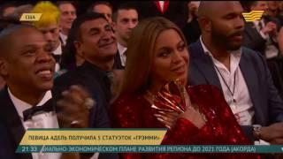 Певица Адель получила 5 статуэток «Грэмми»