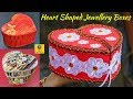 Best Heart Shaped Jewellery Box Making Ideas | Top Heart Shaped Organizer with Newspaper & Cardboard