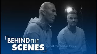 David Beckham and Zidane talk before the Champions League Final