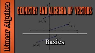 Linear Algebra: Geometry and Algebra of Vectors | Basics