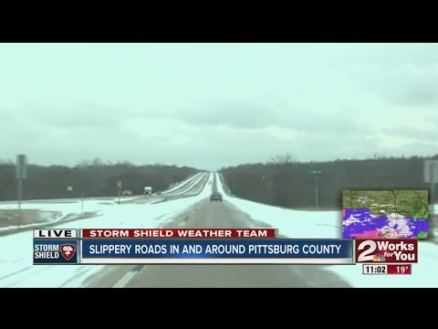 Slippery roads in and around Pittsburg County