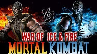 MORTAL KOMBAT WAR OF ICE & FIRE !!! SCORPION vs SUB ZERO