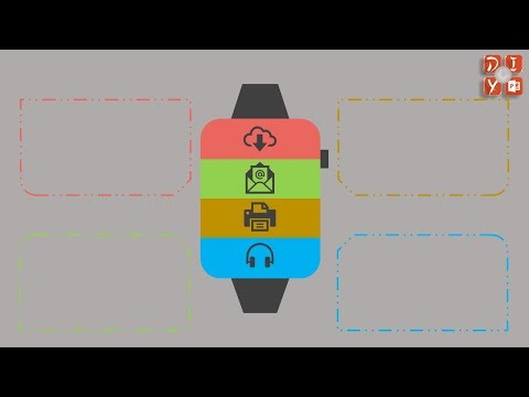 Creative 4 Stages Apple Watch PPT Design, PPT Element Graphic PNG,jpg Clipart, DIY PPT 054
