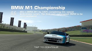 Real Racing 3 BMW M1Championship Series Overview & Upgrade Scheme