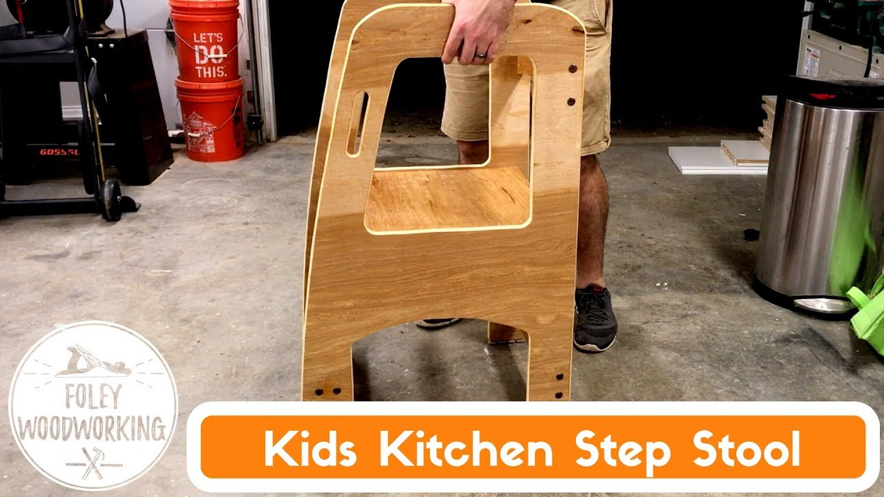 Kids Kitchen Step Stool Youtube