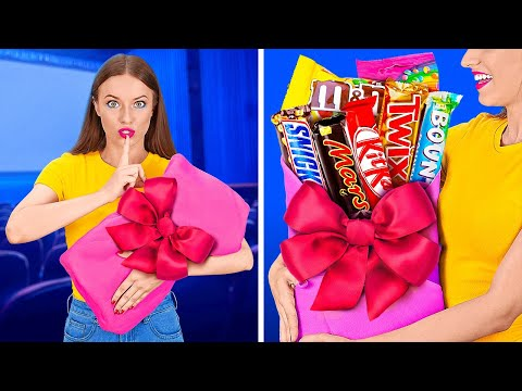 FUNNY WAYS TO SNEAK FOOD INTO THE MOVIES || Cool Food Hacks by 123 GO! - NewsBurrow thumbnail