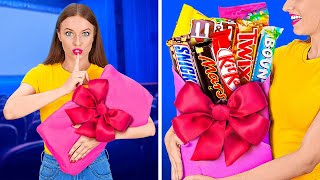 FUNNY WAYS TO SNEAK FOOD INTO THE MOVIES || Cool Food Hacks by 123 GO!