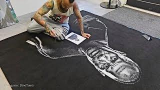 Drawing Dwayne The Rock Johnson With Salt!