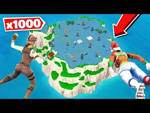 FILLING UP Spawn Island WITH Bounce Pads in Fortnite!