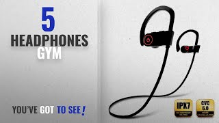Top 5 Headphones Gym [2018]: Bluetooth Headphones, Wireless Earbuds with Microphone, Sports