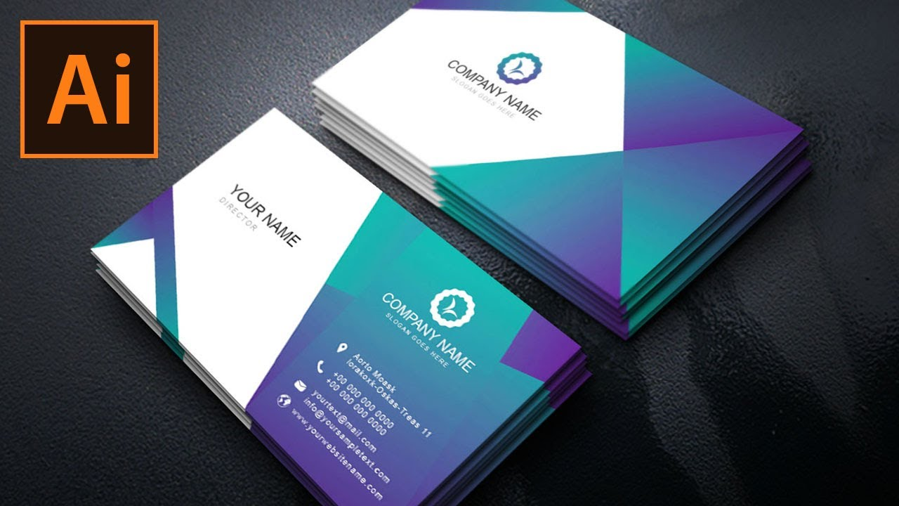 Business Card Design Using Grant