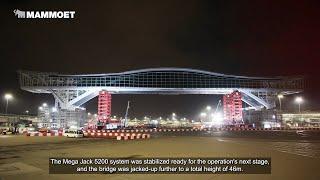 Part 3 - Final Jack Up And Installation Of Hong Kong International Airport's Sky Bridge