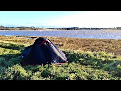WILD CAMPING WITH THE OEX FOXX 1 TENT | RIVER DEBEN SUFFOLK