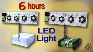 How To Make Rechargeable LED Emergency Light At Home diy Homemade