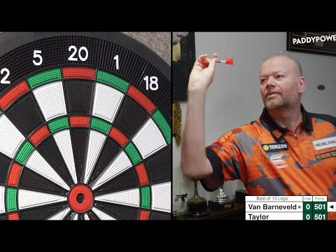 PHIL TAYLOR vs RAYMOND VAN BARNEVELD live...as they play each other from HOME