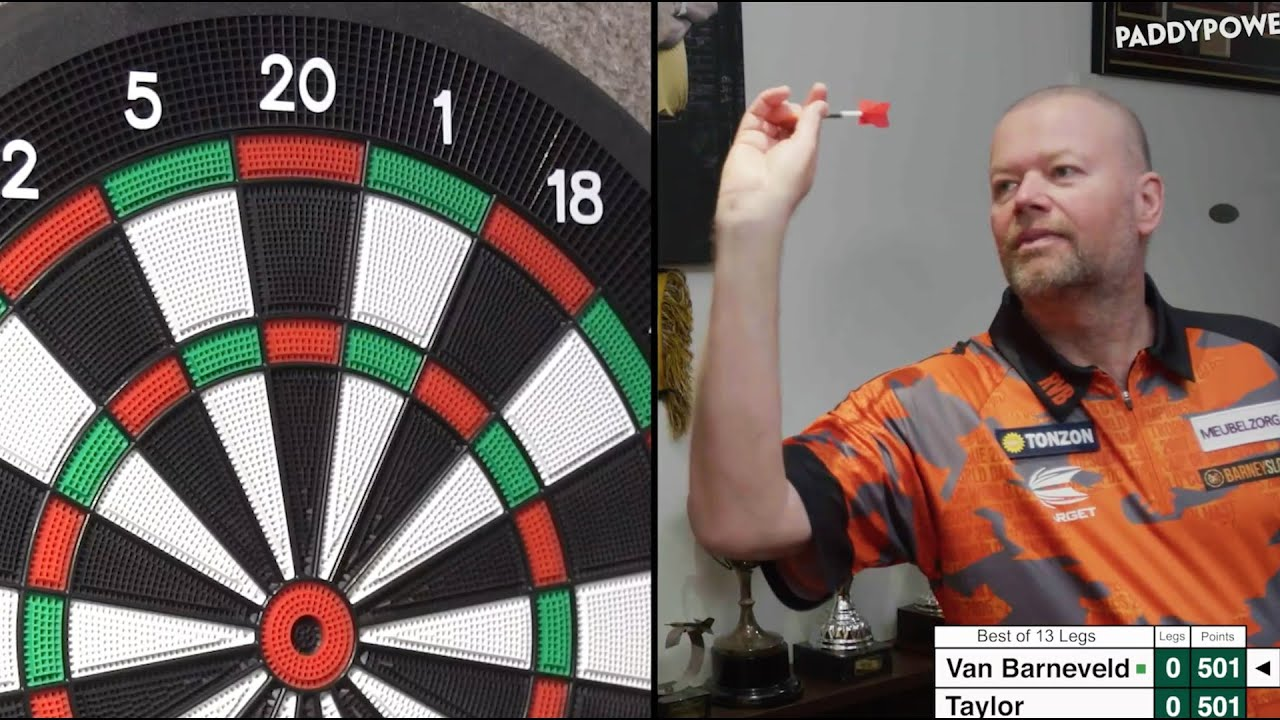Download PHIL TAYLOR vs RAYMOND VAN BARNEVELD...as they play each other from HOME
