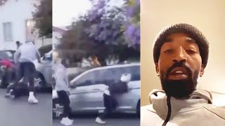 JR Smith Fights Guy For Breaking His Car Window & Destroying Car!