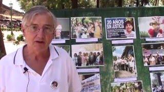 Adrián Camps en el acto homenaje a Marcela Iglesias. 20 años sin justicia