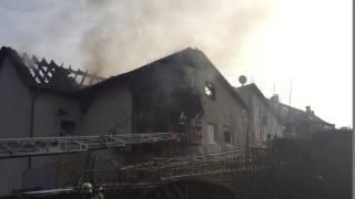 Großbrand in Oberhausen - Gastherme weggeschmolzen
