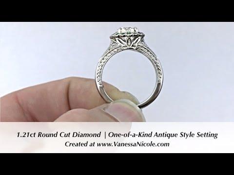 ANTIQUE STYLE DIAMOND RING | Custom Made By Vanessa Nicole Jewels