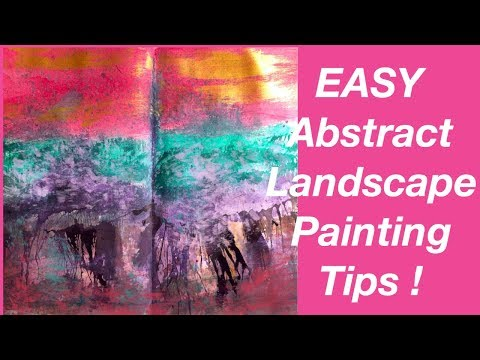 EASY Abstract Landscape Painting  Tips !