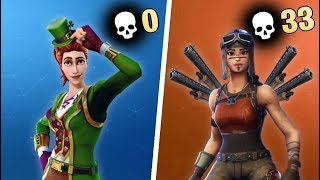 0 KILL WINNER vs 33 KILL WINNER in Fortnite
