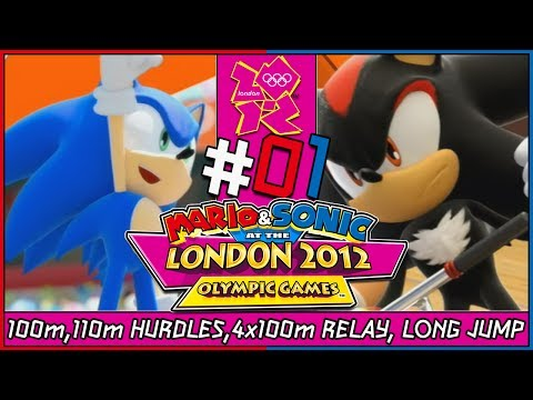 Mario and Sonic at the London 2012 Olympic Games Coop Track Events/Long Jump Sonic Vs Shadow Part 1