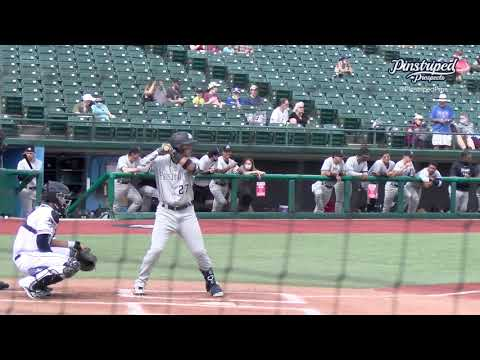 Oswald Peraza, Infielder, Hudson Valley Renegades, May 22, 2021, Slow Motion, Open Side
