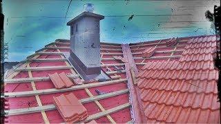 Jak docinam dachówkę w koszu dachowym - Jak buduję swój dom