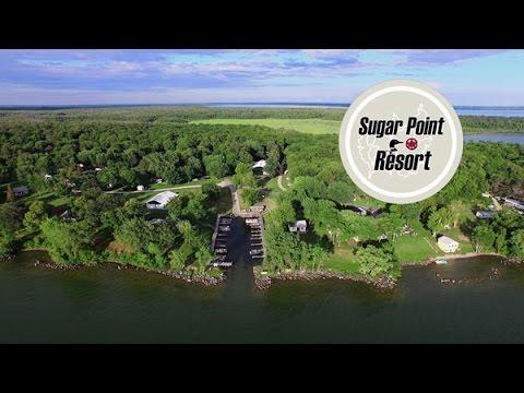Sugar Point Resort on Minnesota's Leech Lake Aerial Video