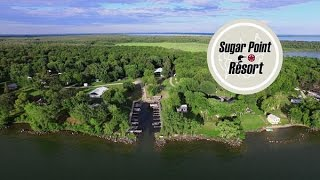 sugar point resort on minnesota s leech lake aerial video