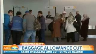 Tigerair cut carry on luggage limit to...