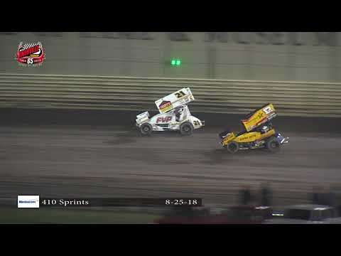 Knoxville Raceway 410 Highlights: August 25, 2018
