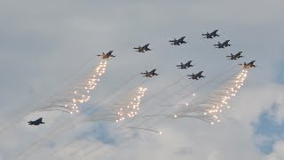 Air Power Demo RNLAF Netherlands Air Force F-35 F-16 C-130 and a lot of Flares Volkel 2019 AirShow