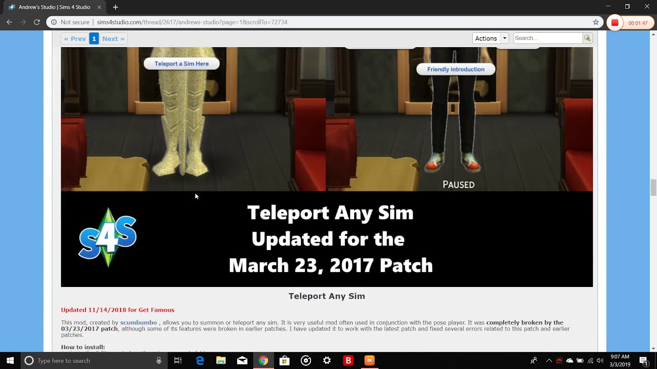 How to fix Sims 4 Teleporter Mod (for poses)