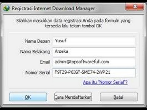 internet manager registration serial number