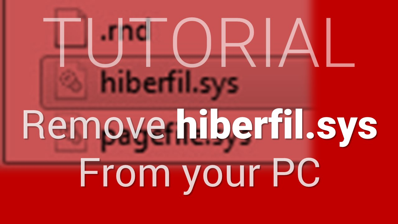 how to remove hiberfil.sys from ubuntu