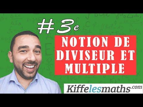Notion de diviseur et de multiple. (3ème)