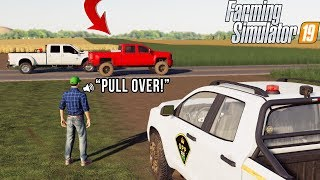 WE GOT PULLED OVER FOR SPEEDING! | FARMING TOURNAMENT | FS19 | #6