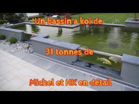 Un bassin a koi de 31 tonnes de Michel et NK en détail