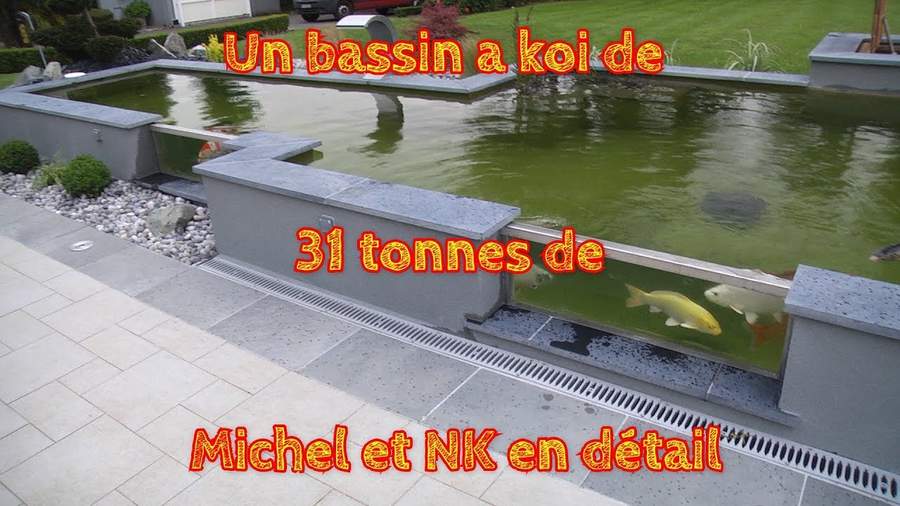 un bassin a koi de 31 tonnes de michel et nk en d tail. Black Bedroom Furniture Sets. Home Design Ideas