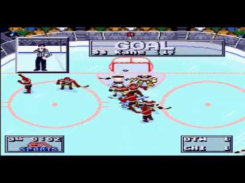 NHL95 34TM beta: Chicago Blackhawks vs Ottawa Senators