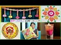DIY Diwali Home Decor Ideas - Floating Candle, Bandhanbar, Cushion Cover  | #Anaysa #DIYQueen