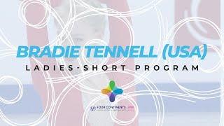 Bradie Tennell USA Ladies Short Program ISU Four Continents Figure Skating 4ContsFigure