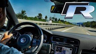 Volkswagen Golf R Autobahn 373hp Acceleration Test Drive & Edel01 Exhaust Sound