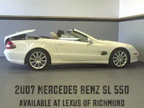 2007 mercedes benz sl 550 available at lexus of richmond. Black Bedroom Furniture Sets. Home Design Ideas