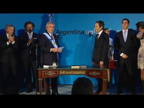 Juraron los ministros de Alberto Fernández