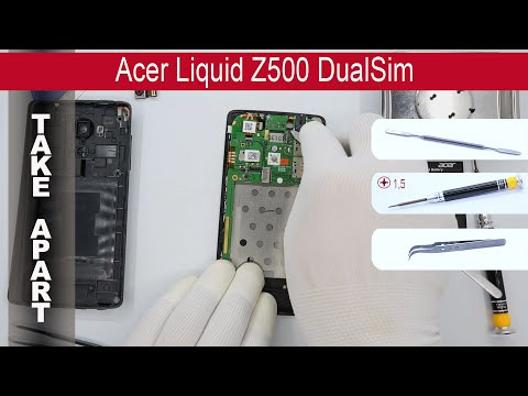How to disassemble 📱 Acer Liquid Z500 DualSim, Take Apart, Tutorial